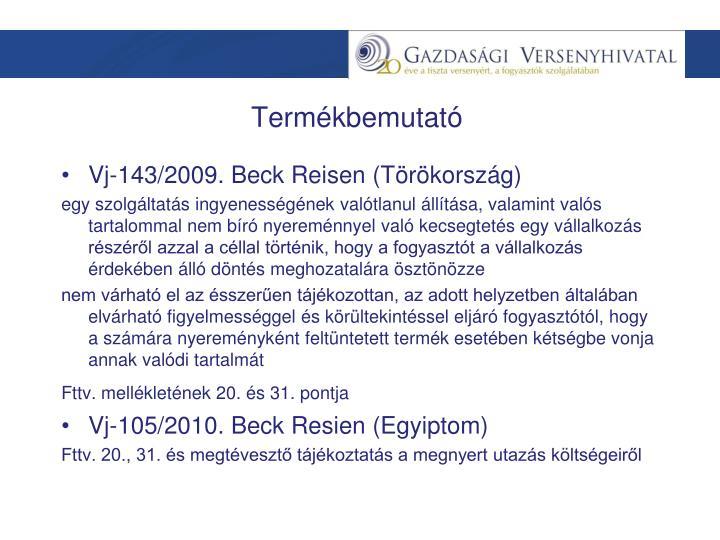 Vj-143/2009. Beck Reisen (Törökország)