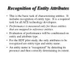 recognition of entity attributes