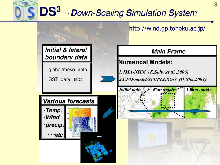 Ds 3 d own s caling s imulation s ystem
