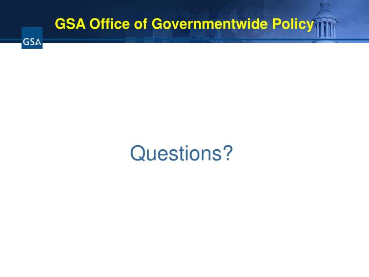 GSA Office of Governmentwide Policy
