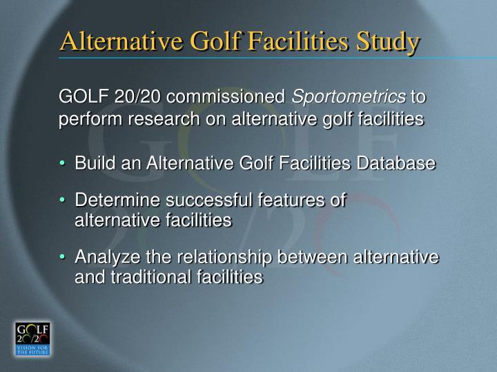 Alternative Golf Facilities Study