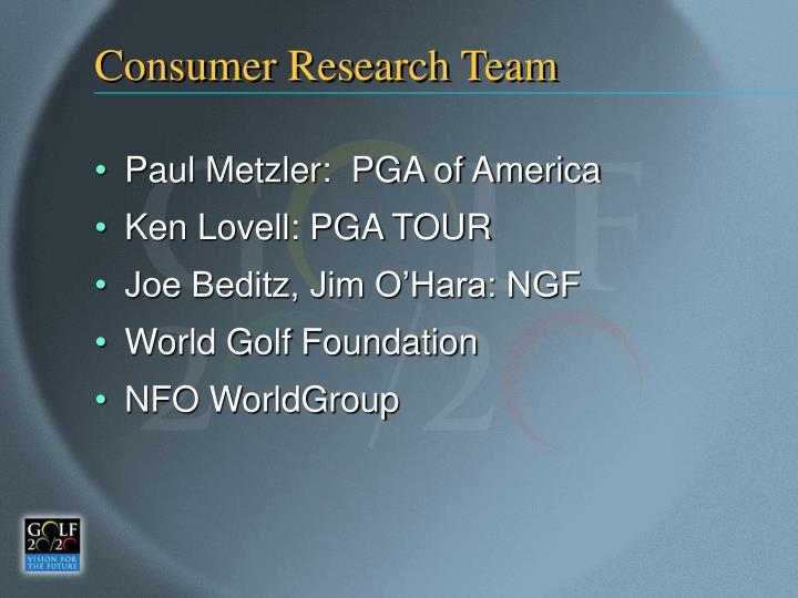 Consumer Research Team