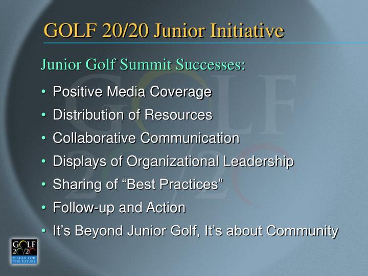 GOLF 20/20 Junior Initiative