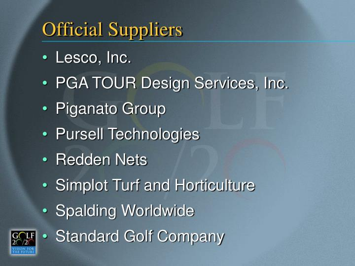 Official Suppliers
