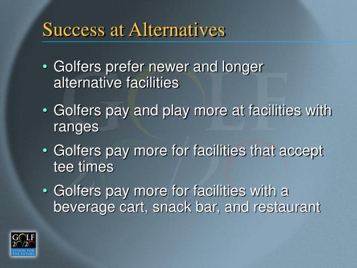 Success at Alternatives