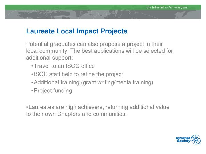Laureate Local Impact Projects