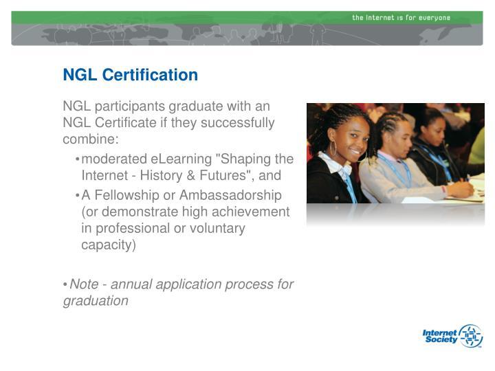 NGL Certification