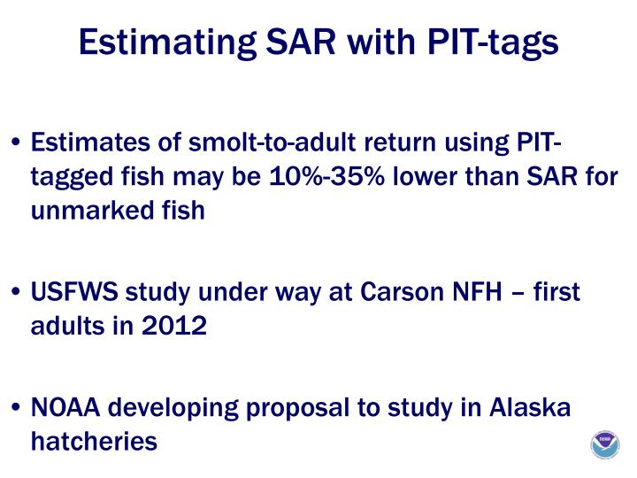 Estimating SAR with PIT-tags