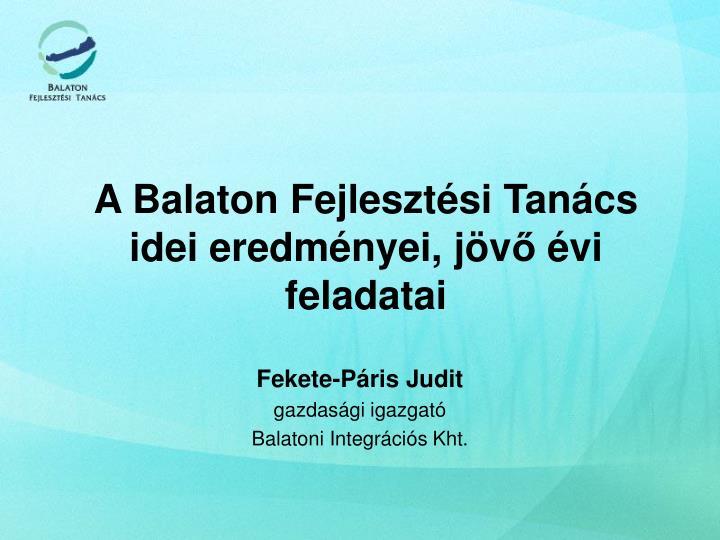 A Balaton Fejlesztési Tanács
