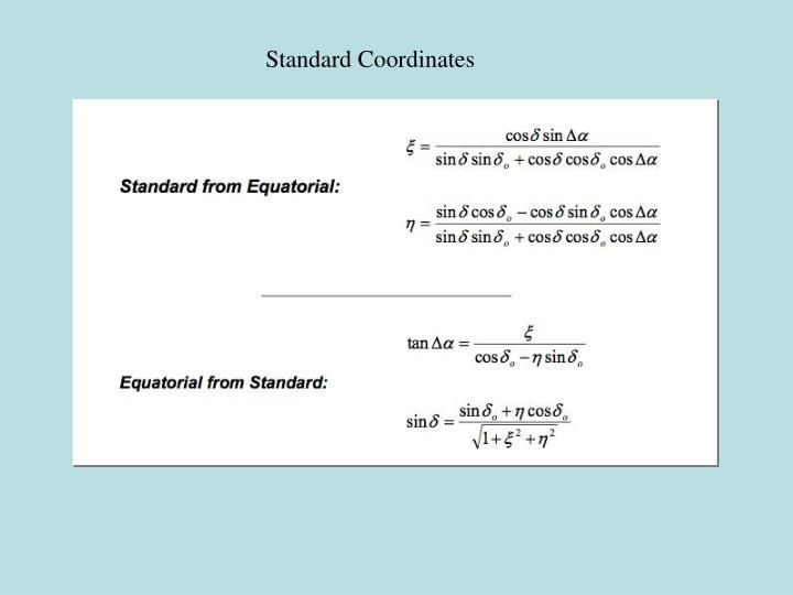 Standard Coordinates