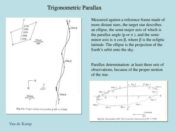 Trigonometric Parallax