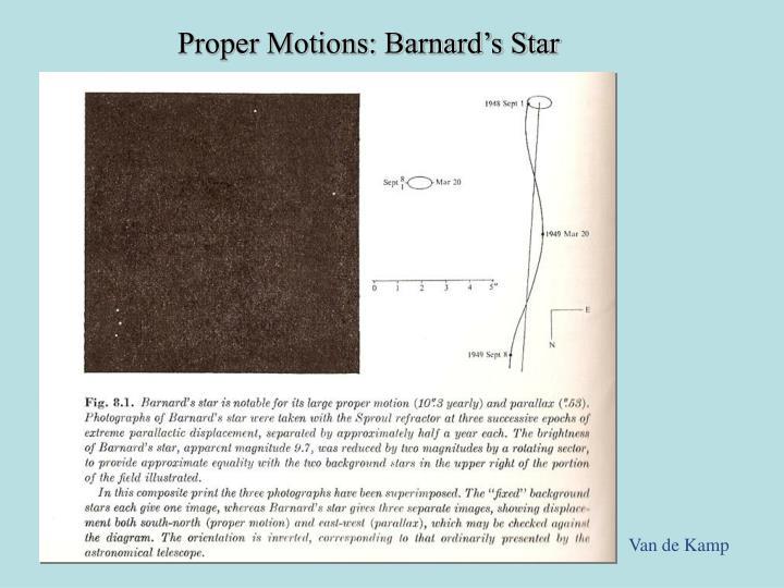 Proper Motions: Barnard's Star