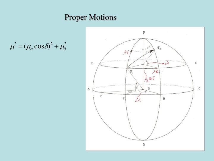 Proper Motions