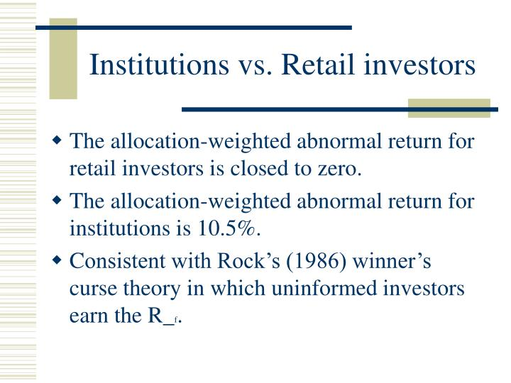 Institutions vs. Retail investors