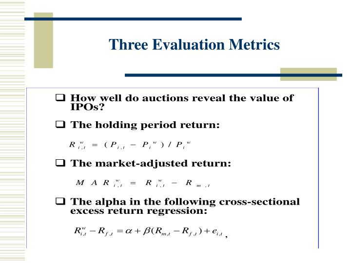 Three Evaluation Metrics