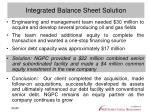 integrated balance sheet solution