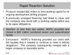 rapid reaction solution
