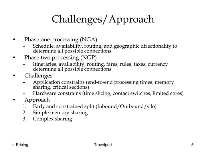 Challenges/Approach