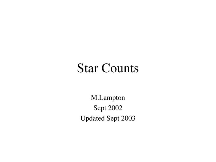 Star Counts