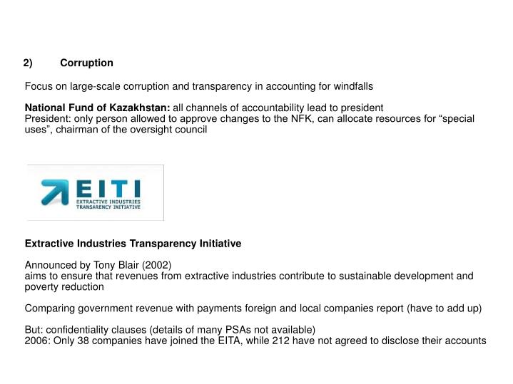 2)Corruption