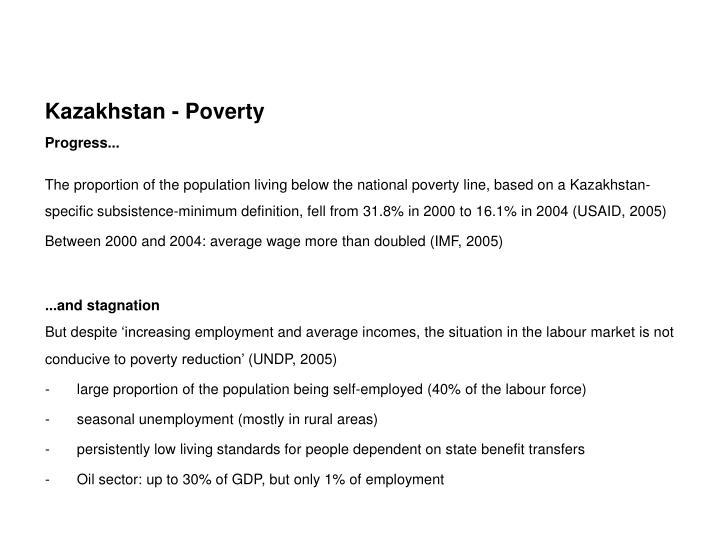 Kazakhstan - Poverty