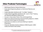 other predicted technologies1