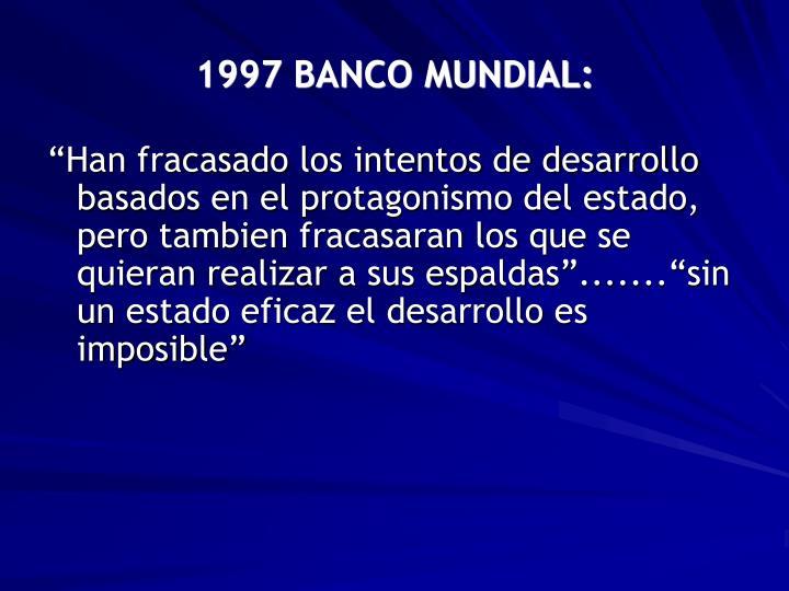 1997 BANCO MUNDIAL: