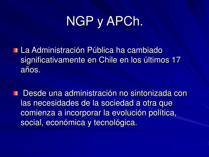 NGP y APCh.