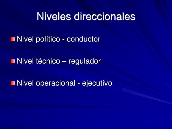 Niveles direccionales