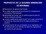 propuestas de la segunda generaci n de reformas