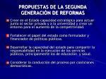 propuestas de la segunda generaci n de reformas1