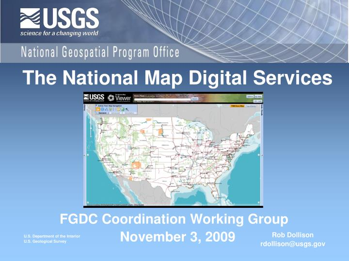 The national map digital services