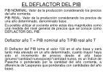 el deflactor del pib