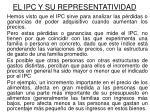 el ipc y su representatividad