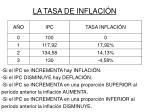 la tasa de inflaci n1
