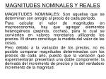 magnitudes nominales y reales