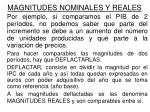 magnitudes nominales y reales1