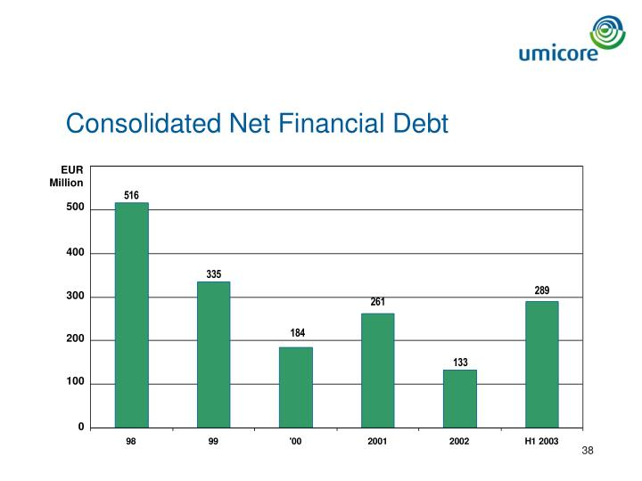 Consolidated Net Financial Debt