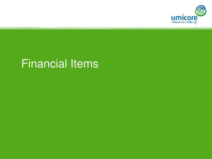 Financial Items
