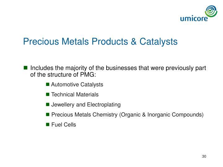 Precious Metals Products & Catalysts