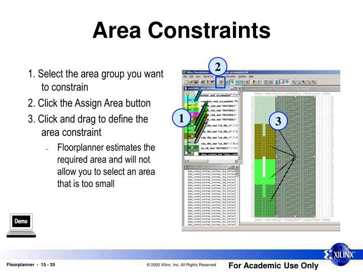 Area Constraints