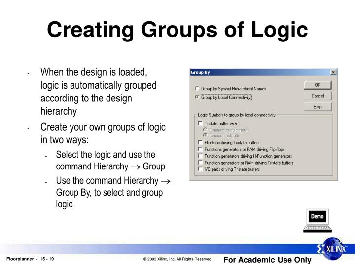 Creating Groups of Logic