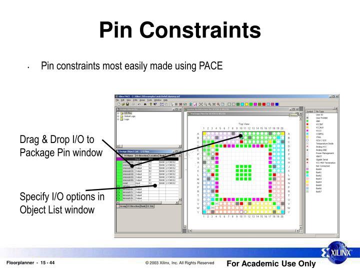 Pin Constraints