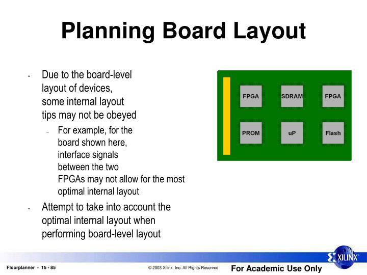 Planning Board Layout
