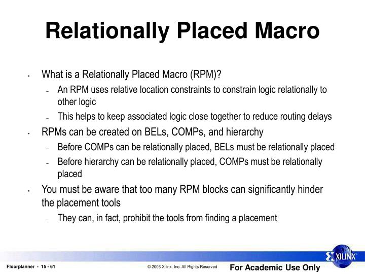 Relationally Placed Macro