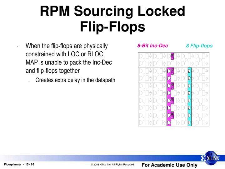 RPM Sourcing Locked               Flip-Flops