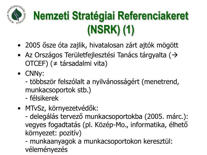 Nemzeti Stratégiai Referenciakeret (NSRK) (1)