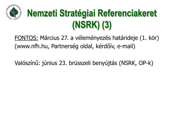 Nemzeti Stratégiai Referenciakeret (NSRK) (3)