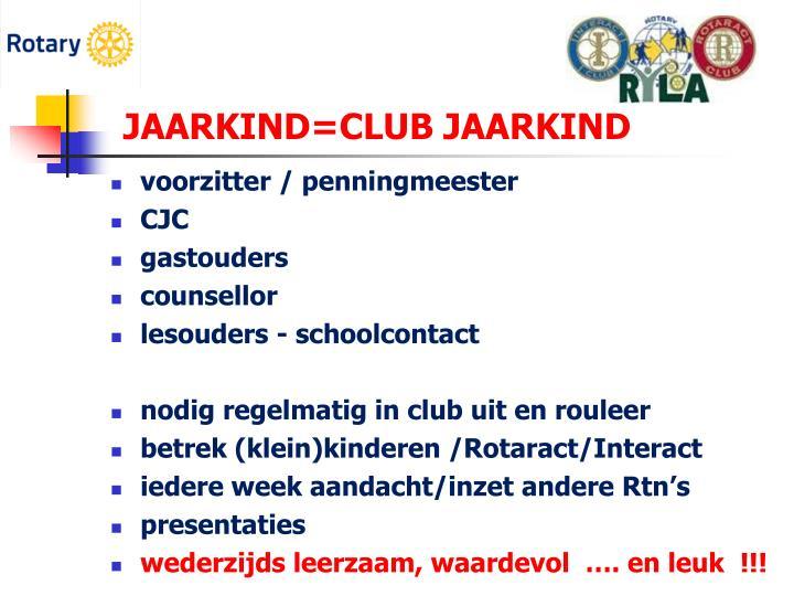 JAARKIND=CLUB JAARKIND