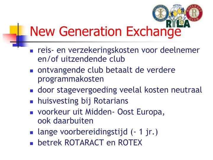 New Generation Exchange